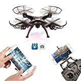 FengLan Remote Control Mode 4 Channel 2.4G 6-Axis Gyro RC Headless Quadcopter X5SW-1 Drone UAV with 2MP HD Wifi Camera (FPV) for Real Time Video Transmission