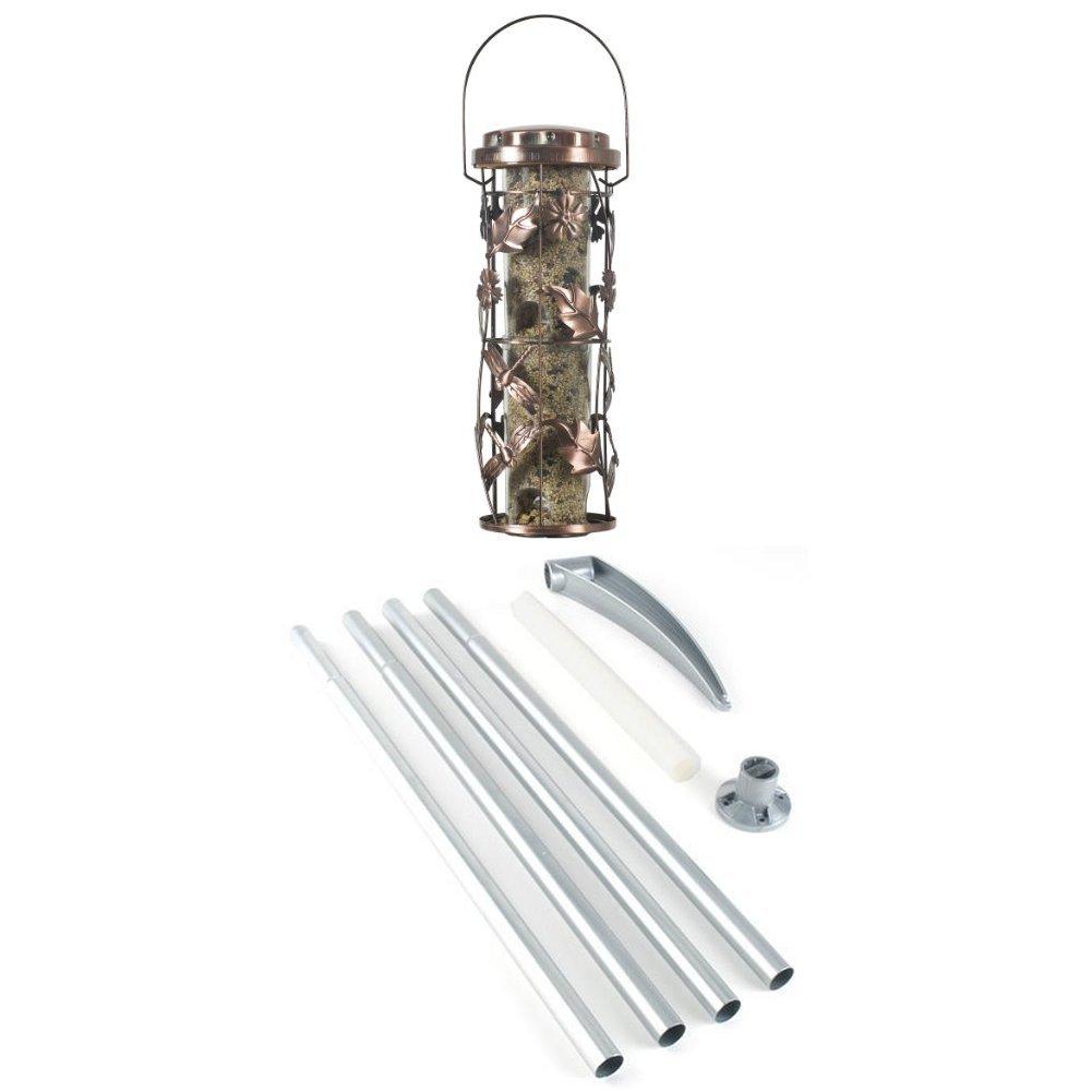 Opus Copper Meadow Wild Bird Feeder & Bird Seed (5Kg) Bundle