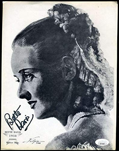- BETTE DAVIS Coa Hand Signed 8x10 Litho Photo Autograph - JSA Certified