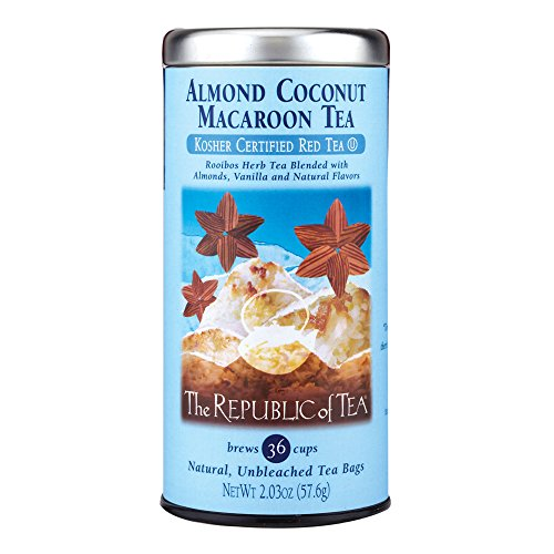 Republic Of Tea Almond Tea (The Republic Of Tea Almond Coconut Macaroon Red Rooibos Herbal Tea, 36 Tea Bag Tin)