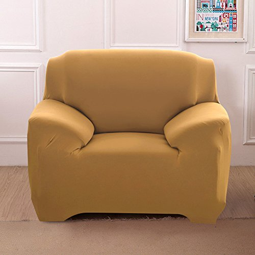 - Boshen Stretch Seat Chair Covers Couch Slipcover Sofa Loveseat Cover 9 Colors/4 for 1 2 3 4 Four People Sofa + 1 Pillowcase (Chair, Camel)