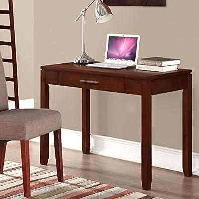 Simpli Home Cosmopolitan Office Desk, Medium Auburn Brown