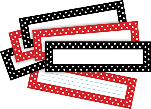 Barker Creek Dots Desktag/Bulletin Board Sign Set (LL1426)