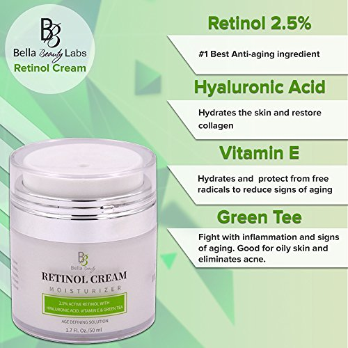51w7EVvhVyL - Retinol Moisturizer Anti Aging Cream for Face and Eye Area - With Hyaluronic Acid - 2.5% Active Retinol - Vitamin E - Reduce Appearance of Wrinkles and Fine lines - Best Day and Night Face Cream