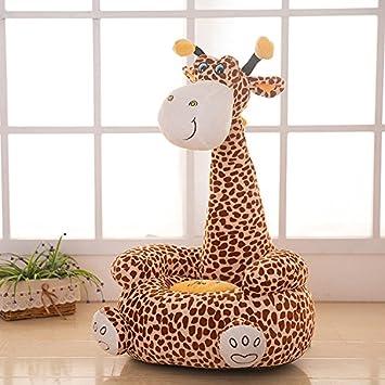 Giraffe Chair Cushion Baby Seat Cartoon Baymax Monkey Bean Bag Nest Kids