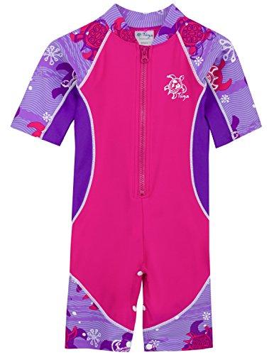 Tuga Girls Low Tide S/S Swimsuit (UPF 50+), Purple
