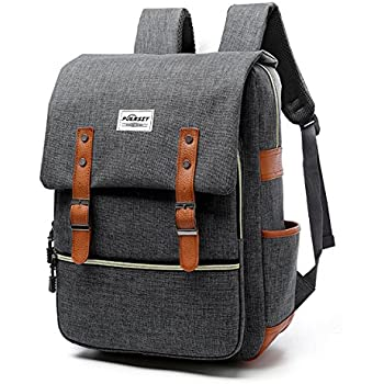 Amazon.com: SmileDay Vintage Flap Bookbag College Backpack