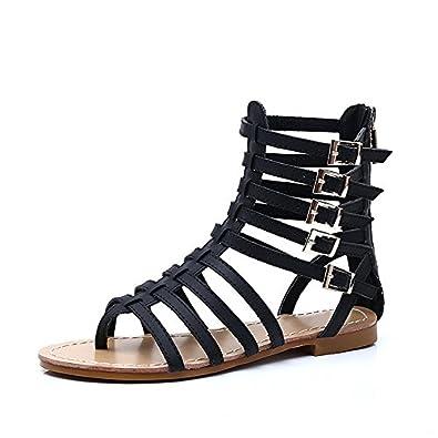Chaussures Femmes Romaines Bouts Eté Ouvert Plate Sandales Talons BQxtdhsCr