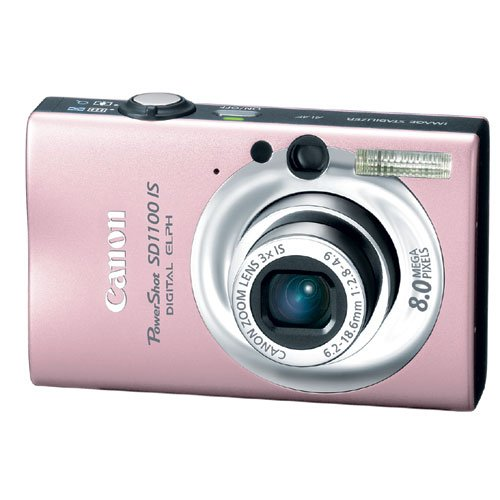 Canon PowerShot SD1100IS 8MP Digital Camera with 3x Optical Image Stabilized Zoom (Pink) by Canon