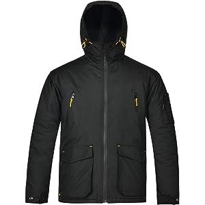42cf47a070a68 HARD LAND Men s Winer Work Jacket Waterproof Insulated Hooded Winter Coats  Outdoor Parka