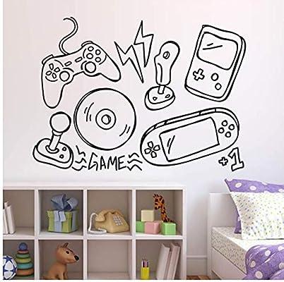 Mhdxmp Juegos Etiqueta De La Pared Controlador De Videojuegos De ...