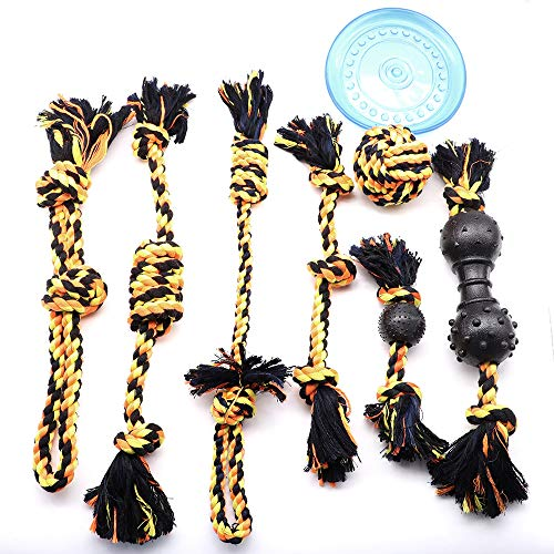 AMOMI PET Dog Chew Toys Kit for Aggressive Chewers Lifetime Replacement Guarantee Nearly Indestructible Tough Durable Dog Toy Reduces Boredom Improves Dog Dental Health