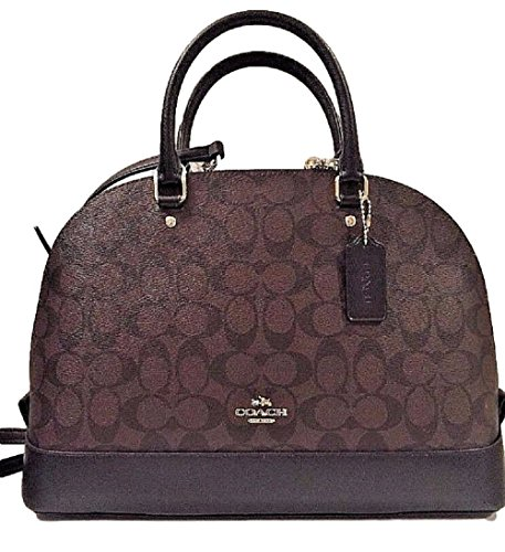 Coach Sierra Satchel Signature Coated Canvas handbag Brown /Black by Coach