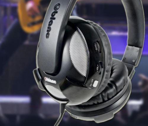 Syba NC-2 UFO 2.1 Dual Driver Headphone with Built-In Amplifier and In-Line Microphone, Black Model (OG-AUD63051) by Oblanc (Image #5)
