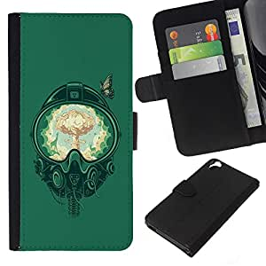 A-type (Un combatiente de bomba) Colorida Impresión Funda Cuero Monedero Caja Bolsa Cubierta Caja Piel Card Slots Para HTC Desire 820