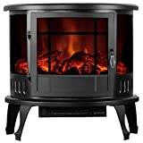 "Fireplaces New 23"" Standing Electric Stove 1500W Heater Realistic Flame Adjustable"