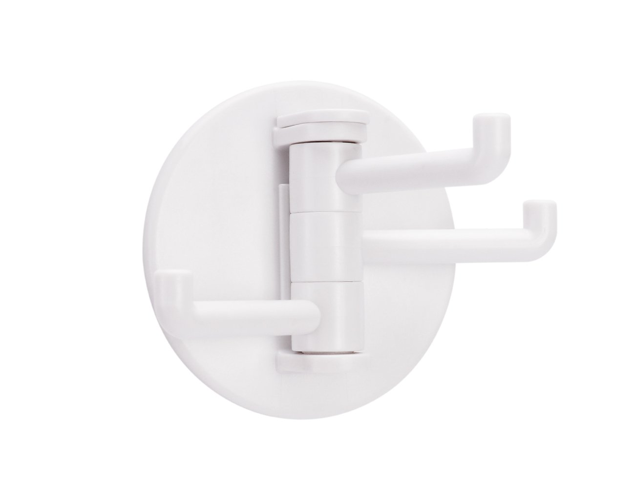 White Hooks, Hangers Stick On Wall Hooks,Bathroom Or Kitchen Wall Hooks (ABS plastic Hooks,2 Piece).