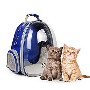 f688868ad5 Sac à Dos Portable pour Chat Chien Animal de Compagnie Sac de Transport à  roulettes Transparent