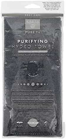 Earth Therapeutics Purifying Exfoliating Hydro Towel - Black with Charcoal
