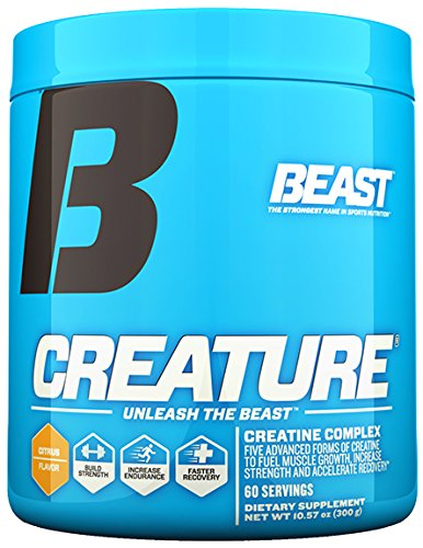 Beast Sports Nutrition – Creature Creatine Complex – Fuel Muscle Growth – Optimize Muscle Strength – Enhance Endurance – Increase Recovery Time – 5 Forms of Creatine Monohydrate Powder – 60 Servings