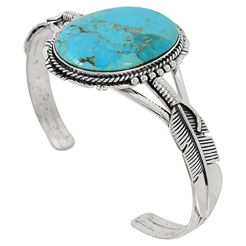 Turquoise Bracelet Sterling Silver 925 With Genuine Turquoise