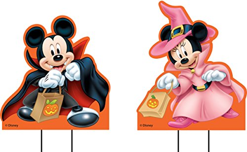 Disney Mickey & Minnie Yard Stakes (Minnie And Mickey Halloween)