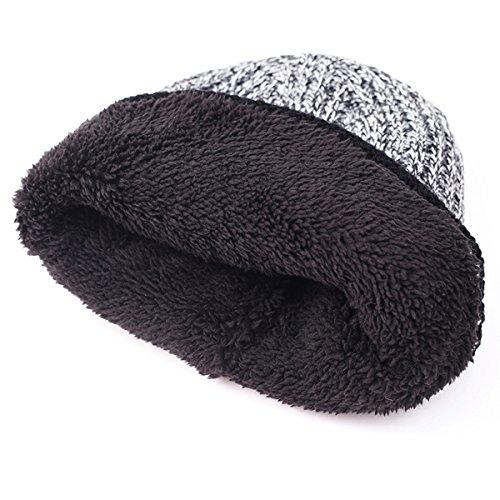 Tejido pelusa Versión de Sombrero de Mantener Diamante AB lana Invierno punto Gorro marea Hombres la Hilado de Hedging al coreana caliente marrón libre Plus aire rR8rI