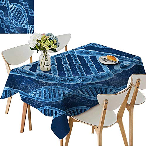 UHOO2018 Tablecloth DNA Molecules on The Beautiful Background Square/Rectangle Table Cover,50 x102inch