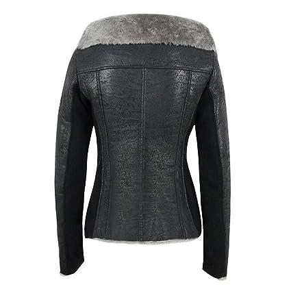 Amazon.com: Startview Women Plus Velvet Asymmetrical Zipper Short Locomotive Jacket Composite Coat: Clothing