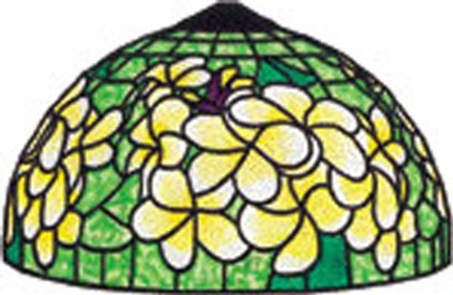 """13"""" Lei Floral Worden Stained Glass Lamp Pattern Gf136"""