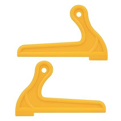2pcs palillos amarillos, vástago portátil de madera vio empujar palos para carpintería mesa de trabajo