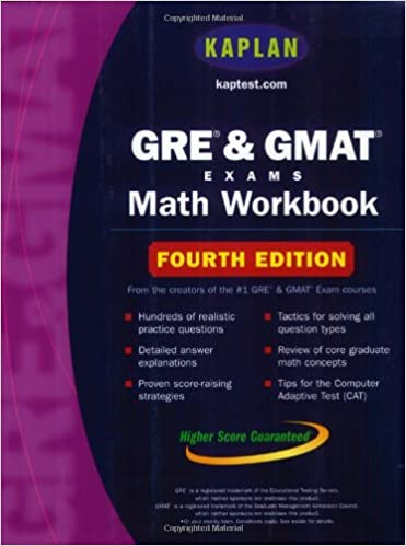 Fourth Edition Kaplan GRE /& GMAT Exams Math Workbook