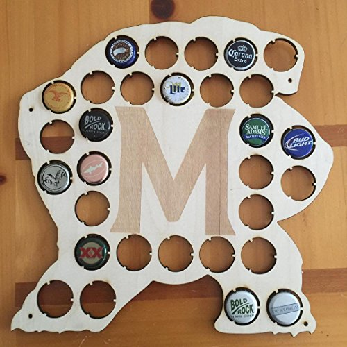(University of Maryland Terrapins Wood Display Collector Beer Bottle Cap Holder Father's Day Gifts for the Man or Woman Cave)