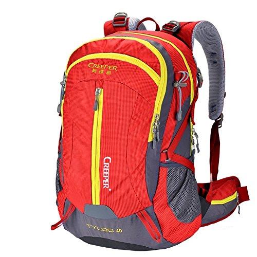 sacchetto di alpinismo/Zaino impermeabile allaperto/Escursionismo zaino/Pacchetto di campeggio-rosso 50L