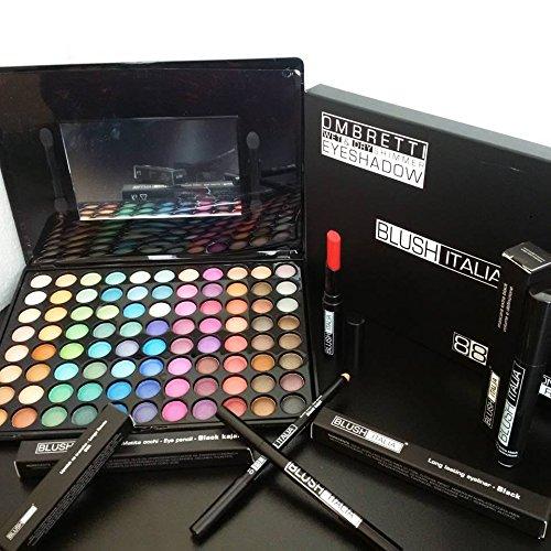 1 opinioni per blush italia make up kit 88 ombretti rossetto matt no transfer mascara eyeliner
