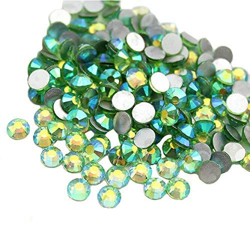 Jollin Glue Fix Crystal AB FlatBack Rhinestones (ss20 576pcs, Light-green AB)