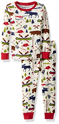 Little Blue House by Hatley Boys' Little Long Sleeve Printed Pajama Set, Sketch Country 6