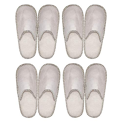 Gray Guest Felt 4 Close Indoor Fleece House Pairs SLIPPERTREND Family Toe Slippers z5PWq