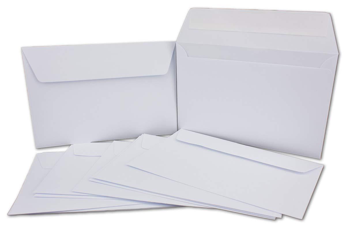 200 Doppelkarten Set Set Set DIN B6 Weiß - 11,9 x 16,1 cm offen - 210 g m² mit Brief-Umschlägen DIN B6-12 x 18 cm - 90 g m² Weiß Haftklebung B07JZNYJBM | Spielen Sie Leidenschaft, spielen Sie die Ernte, spielen Sie die Welt  06ca69