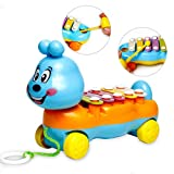 Yimosecoxiang New Popular Children's Toys Baby Kids 5-Notes Xylophone Cute Pull Along Musical Development Colorful Toy Gift