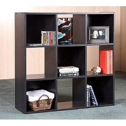 High Quality Orion 9 Cube Storage Shelves, Black