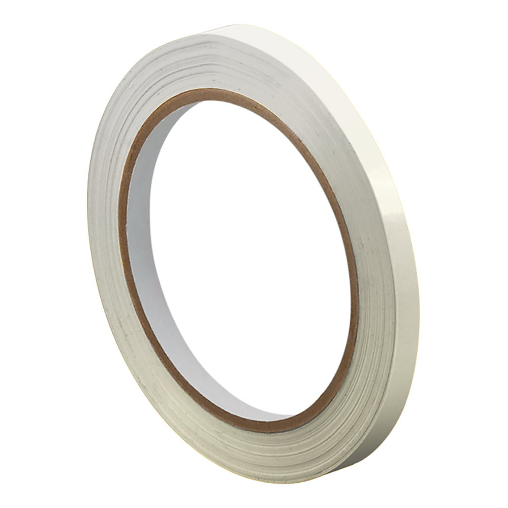 """TapeCase TC414 0.375"""" X 180YD Clear - UPVC, Clear Bag Sealing Tape, 3/8"""" Wide, 180 yd. Length, Clear (1 ROLL)"""
