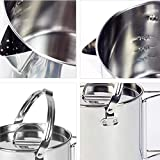 Backpacking Cook Set Stainless Steel Camping Kettle Pot with 2 Insulated Bowls and Mesh Bag