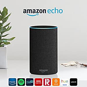 Amazon Echo (2nd generation) - Smart speaker with Alexa - Charcoal Fabric