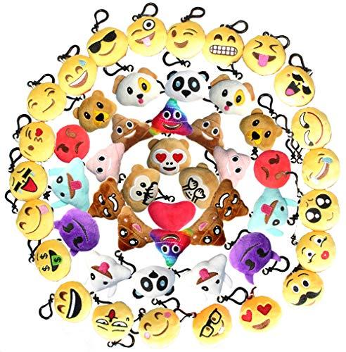 Emoji Keychain Plush Mini Pillow Decoration, Kids Birthday P