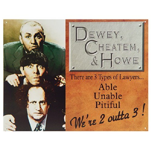 - Dewey, Cheatum & Howe Tin Sign , 16x13