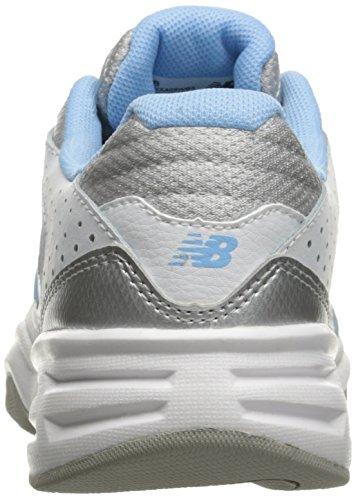 New Balance Womens WX409V3 Casual Comfort Training Shoe White/Blue pDZdebK