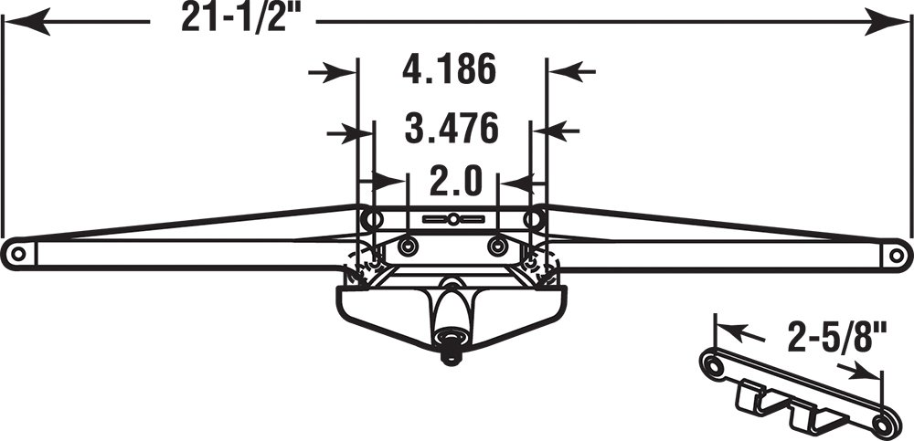 Prime-Line Products TH 23010 Roto Gear Awning Operator with Crank, 21-1/2-Inch, White by PRIME-LINE (Image #2)