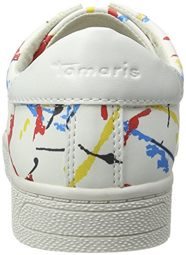 White Women''s Sneakers 23622 126 Multi graffiti top Tamaris Low PXgUndq