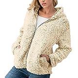StyleV-shirts 2018 Women Sherpa Zipper Jacket Short Coat Winter Warm Solid Outwear Overcoat